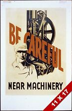 VINTAGE MACHINERY FACTORY WORKPLACE SAFETY SAFE JOB POSTER RETRO WPA ART PRINT