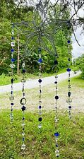 MOON SUNCATCHER-MOONS,STARS-CRYSTAL-BLUES/CLEAR-HANDCRAFTED-3 DIMENSIONAL # 930