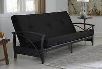 Black Mainstays 6 Tufted Futon Mattress - Guest Room/Playroom/Den
