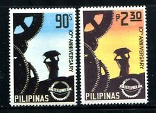 Philippines 1324-1325,MNH. Asian Development Bank.Cogwheels,Worker,1977.
