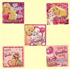 15 Barbie Valentine's Day - Large Stickers - Party Favors - Rewards