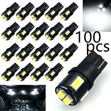 100x T10 194 High Power Samsung 5630SMD LED Interior License Light Bulb White