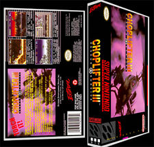 Choplifter 3 - SNES Reproduction Art Case/Box No Game.