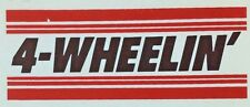 Original Vintage 4-Wheelin' Red and Black Strip Iron On Transfer Truck