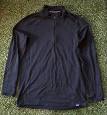 Patagonia Capilene Base Layer Quarter Zip Pullover Men's Xl Fa15 Black