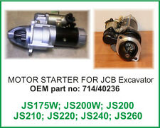 JCB PARTS MOTOR STARTER FOR JCB Excavator JS Series - 714/40236 *
