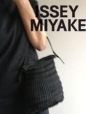 ISSEY MIYAKE PLEATED FABRIC BLACK BAG