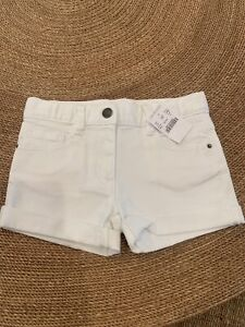 NWT J.crew Crewcuts WHITE Denim Jean Shorts Size 5