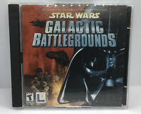 Star Wars Galactic Battlegrounds PC 2 Disc CD Rom Great Condition Fast Shipping