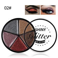 5Color Glitter Eyeshadow Cream Makeup Waterproof Brighten Eye Shadow Cosmetic UK