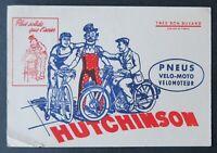 BUVARD HUTCHINSON vélo moto couleur rouge par MICH Blotter Löscher