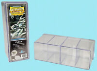 DRAGON SHIELD FOUR COMPARTMENT CLEAR CARD STORAGE BOX NEW Case Dividers gaming