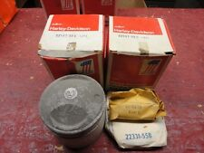 Harley-Davidson Panhead Pistons 1set(2) with Wrist Pin Clips and Rings .050 over