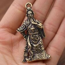 Brass Guan Gong Keychain Pendant Guan Erye Retro Men and Women Car Small Gifts