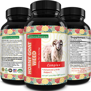 Horny Goat Weed Complex - Male Enhancement Pills and Natural Testosterone Booste