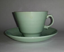 Vintage 50s Woods Ware BERYL (Pale Green) Duo (Cup & Saucer) #6. Kitchen/ Cafe