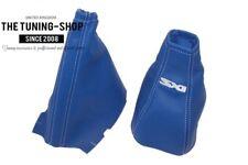 "Engranaje & Freno De Mano Polaina Para Vauxhall Corsa C 2000-06 azul de cuero con el logotipo ""SXI"""