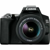 Canon EOS 250D/Rebel SL3 DSLR Camera with 18-55mm f/4-5.6 IS III Lens (Black)