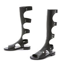 "*NEW* STUART WEITZMAN ""BACKVIEW"" Sz 6.5 Black Blogger Gladiator Sandals Shoes"
