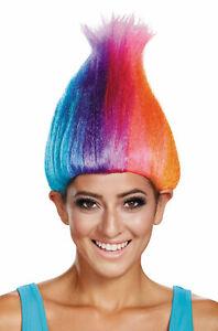Rainbow Licensed Adult Troll Wig