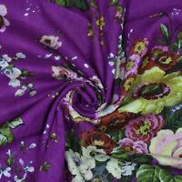 Lila Floral Bedruckte Indische Dekorative Nähen Baumwolltuch Kleid Von Der Werft