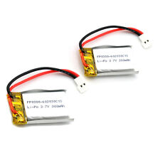2Pcs 3.7V 300mAh LiPo Rechargeable Battery For RC Quadcopter Toys High Rate Good