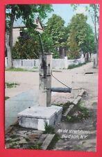 An Old Street Pump Hudson NY Posted DB Postcard