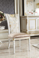 8 Chairs Set Dining Room Designer Wood Chair Set Antique Style Baroque Rococo