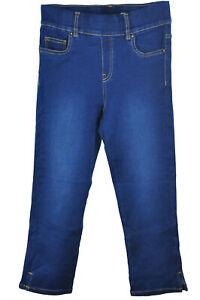 Slim Skinny Pull On Denim Cropped Jeans Lightweight Elastic Waist Jeggings