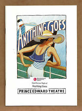 """Elaine Paige """"ANYTHING GOES"""" Howard McGillin 1989 London Gala Preview Playbill"""