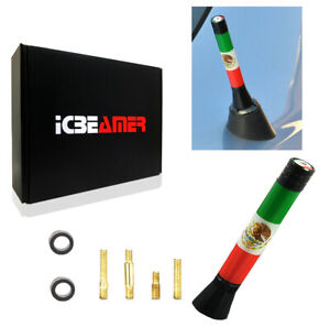 """JDM Mini 3"""" 76mm Mexican Country Flag Universal Fit Vehicle AM/FM Antenna Y157"""