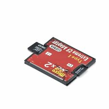2 Port Micro SD TF To CF Card ADAPTER MMC SDHC SDXC COMPACT FLASH TYPE