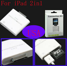 2 in 1 Card Reader For Apple iPad Camera Connection Kit