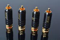 4pcs RCA Connectors Male WBT-0144 Signal Line Plug WBT 0144 RCA Plug Lotus Head