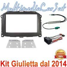 Kit Mascherina Doppio Din Cambio Autoradio Alfa Romeo Giulietta dal 2014 3688