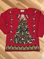 Vtg Heirloom Collectibles 1999 Christmas Holiday Sweater NWT Sz M Embellished