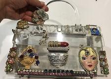 "Ladies Handbag/Jewellery/Make Up/Purse With Great Decoration GLAMOURPUS 8""x5"""