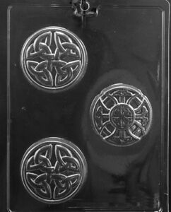 M240 Celtic Soap Bars Chocolate Candy Soap Mold with Instructions