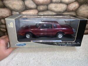1987 Chevrolet Monte Carlo SS BURGUNDY Welly 1/18 Die Cast