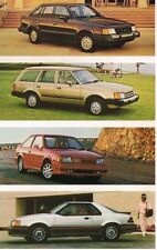 1987 Ford ESCORT / EXP Brochure with Color Chart: GL,GT,SPORT,LUXURY,WAGON