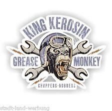 King Kerosin Grease Monkey Chopper-Bobbers 30cm Aufkleber Sticker Oldschool OEM