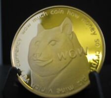 2014 Dogecoin Physical Bit Coin Rare Gold 24 Karat Edition Shibe Mint