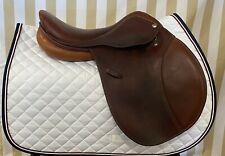 Lightly Used Rodrigo Pessoa Close Contact Jump Saddle, XCH system 16.5 Long Flap