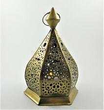 Moroccan Arabic Style Pierced Brass Filagree Lamp Decor Candle T-Lite Lantern