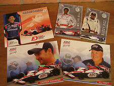 Lot of 5 IndyCar Series 2008 driver CARDS Rice-Bell-Manning-Foyt - Mutoh
