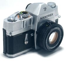 NIKON NIKKOREX F Vintage Nippon Kogaku SLR Film Camera 20mm f/1.8 Lens Japan