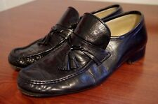 90s  Bally Tassel Loafer SHOES Size 10.5M Mens Black MADE IN ITALY