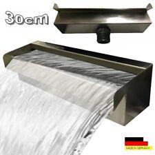 """Wasserfall 30 cm Edelstahl Waterfall Wasserspiel Kaskade V2A  """"Made in Germany"""""""
