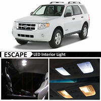 12x White Interior LED Lights Package Kit for 2008-2012 Ford Escape