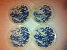"""Set of 4 Enoch Wedgewood Tunstall Plates10"""" Countryside Pattern Made in England"""